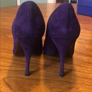 Stuart Weitzman Shoes - Stuart Weitzman Sumatra purple suede pump size 9